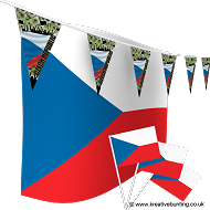 Czech Republic Football Bunting & Flag Bundle